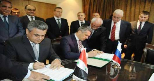 Syria signs contract with Russian Stroy Trans Gas Company-1