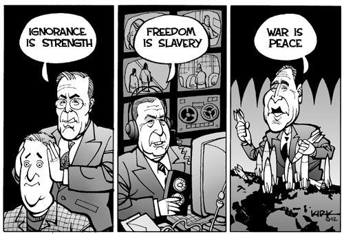 Ignorance is strength freedom is slavery war is peace-2014-3