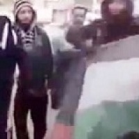 Video: Daesh-Isil Terrorists Trample and Attempt to Burn the Palestinian Flag, Exactly As Their Zionist Masters Do