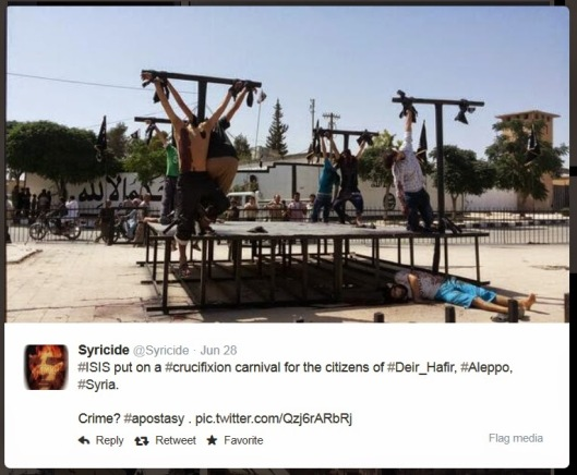 Mossad-run IS is crucifying Moslems-2