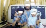 two little sons to join the war in Syria