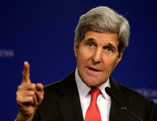 U.S. Secretary of State Kerry speaks at Center for American Progress on launch of India:2020 in Washington
