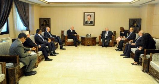 Al-Moallem meeting De Mistura
