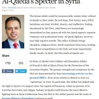 """FSA Need Al-Qaeda Now"", CFR Senior Member ~ [Political Analyst Report]"