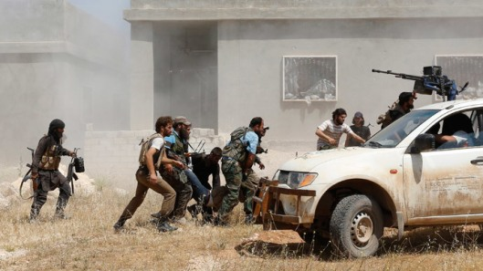 Free Syrian Army terrorists with USA weapons -Reuters-Badi Khlif