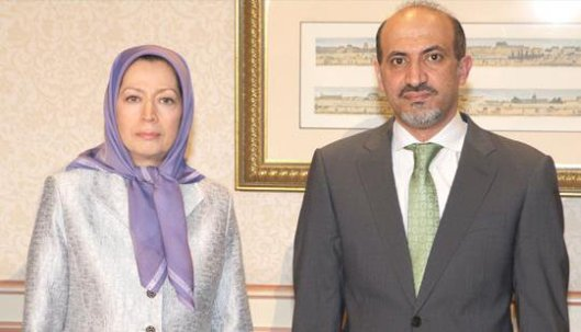 Maryam-Rajavi-and-Ahmed-Jarba-discuss-regime-change-in-Iran-and-Syria