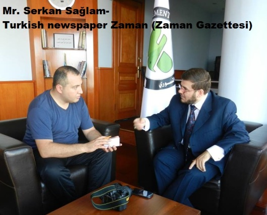 Mr. serkan sağlam-Turkish newspaper Zaman (Zaman Gazettesi)2