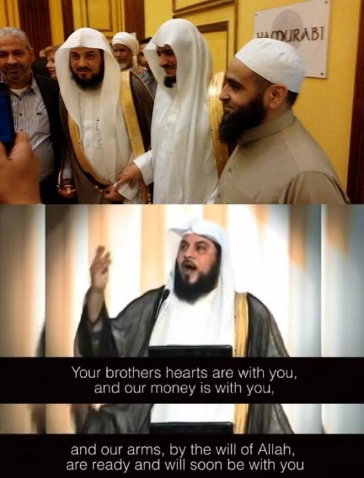 Sheikh Mohammed al-Arifi and Sheikh Saad al Shahrani dirtbag