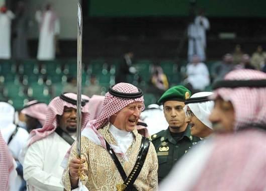 home-grown british 'jihadi' mocking islam through his less than islamic saudi puppets.