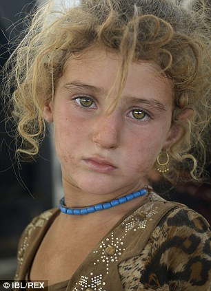 displaced Iraqi girl from the Yazidi community