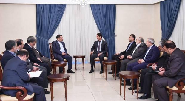 Bashar al-Assad and Ali Shamkhani-1