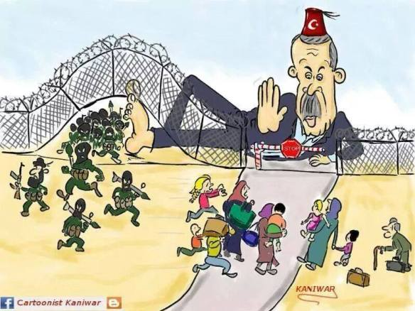 Erdogan and ISIS, cartoon