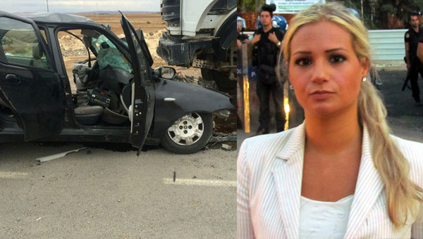 L'auto dell'incidente e Serena Shim in abbigliamento 'occidentale'