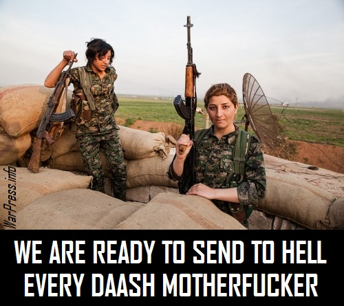 WE ARE READY TO SEND TO HELL EVERY ISISI MOTHERFUCKER
