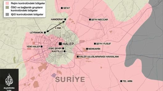Aleppo map Al Jazeera Turk