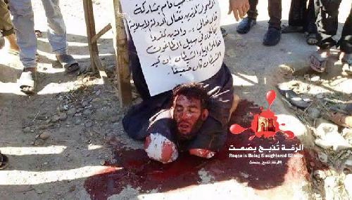 Execution of Abdullah Hamad, beheaded in the countryside of Deir Ezzor