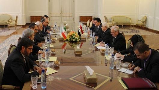 Walid al-Moallem - Ali Larijani-5-640