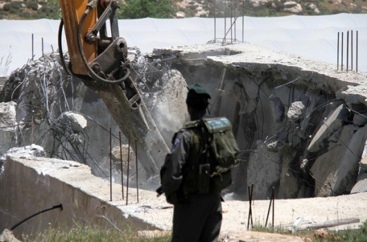 Palestinian canal & water tank destruction by Zionist Occupation Forces