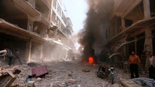 central Douma eastern al-Ghouta near Damascus