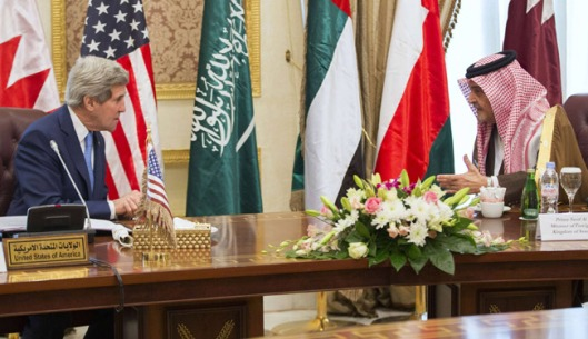John Kerry with Saud al-Faisal