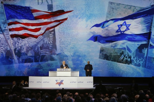 Israel's PM Netanyahu addresses the American Israel Public Affairs Committee (AIPAC) policy conference in Washington