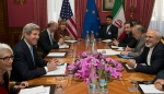 U.S. Secretary of State Kerry holds a negotiation meeting with Iran's Foreign Minister Zarif over Iran's nuclear programme in Lausanne