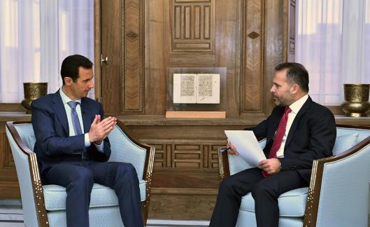 Bashar to the Swedish Expressen Newspaper-1