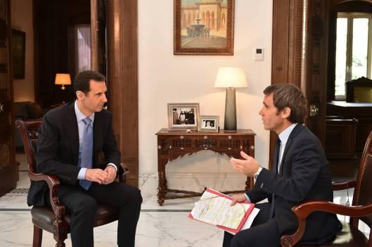 President al-Assad to France 2 TV-1