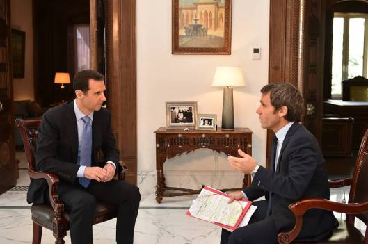 President al-Assad to France 2 TV-1