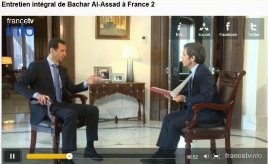 President al-Assad to France 2 TV-7-fra