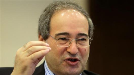 Syrian Deputy Foreign Minister Faisal Mekdad -AFP photo