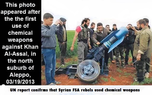 Image result for rebels fire chemical weapons in Ghouta Damascus