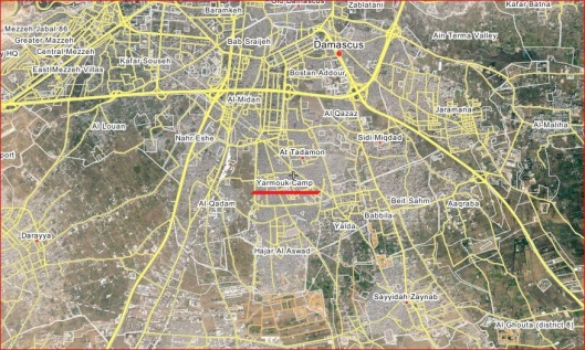 yarmouk-damascus-map