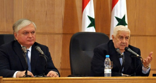 Deputy Prime Minister, Foreign and Expatriates Minister Walid al-Moallem, on Wednesday held a joint press conference with Armenian Minister of Foreign Affairs Edward Nalbandian.