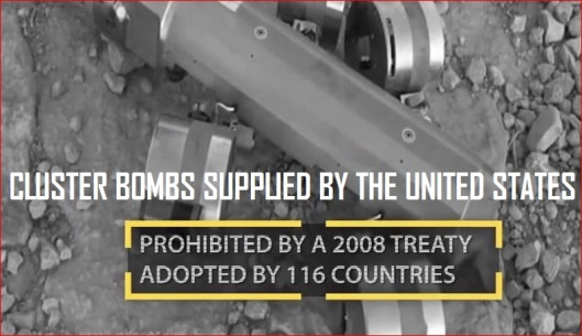 CLUSTER BOMBS SUPPLIED BY THE UNITED STATES