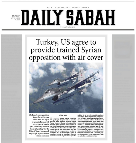 Daily Sabah 25 May 2015