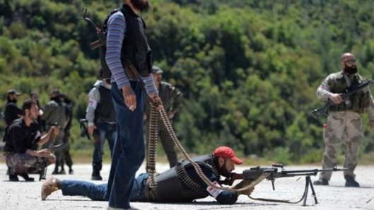 Foreign-backed militants training