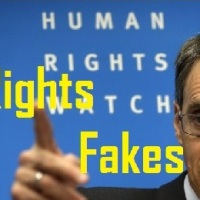 "FAKES ~ 'Human Rights Watch' did it again, accusing President al-Assad of using ""Barrel Bombs"", but with photos of damage done by Zionists in Gaza..."