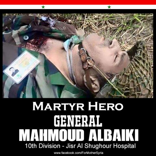 Martyr Hero General. Mahmoud Albaiki