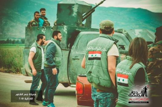 Volunteers deliver some supplies to the heroes of the Syrian Arab army in Jisr al Shughour-1