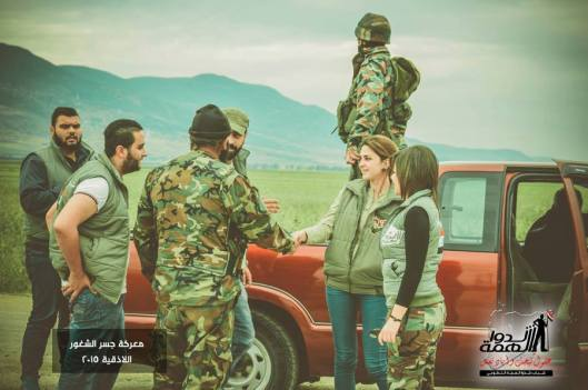 Volunteers deliver some supplies to the heroes of the Syrian Arab army in Jisr al Shughour-2