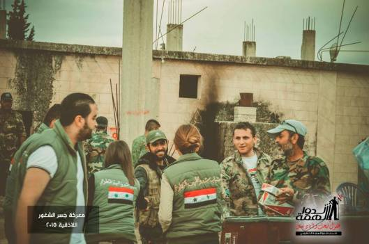 Volunteers deliver some supplies to the heroes of the Syrian Arab army in Jisr al Shughour-4
