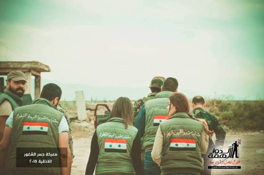 Volunteers deliver some supplies to the heroes of the Syrian Arab army in Jisr al Shughour-5