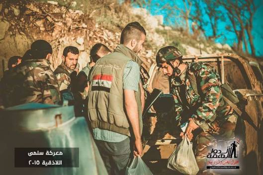 Volunteers deliver some supplies to the heroes of the Syrian Arab army in Jisr al Shughour-6