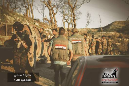 Volunteers deliver some supplies to the heroes of the Syrian Arab army in Jisr al Shughour-7