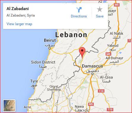 Al-Zabadani-map