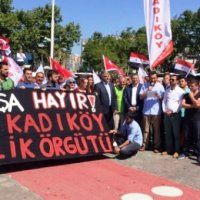 Turkish people hold rally in Istanbul to back Syria