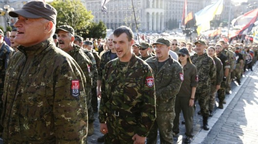 Members of the far-right radical group Right Sector-Reuters-Valentyn Ogirenko