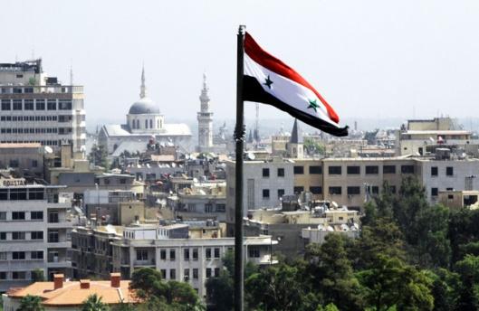 syria-flag-over-damscus
