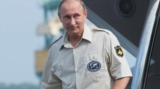August 18-2015 Russian President Vladimir Putin in Sevastopol